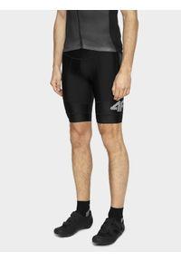 4f - Spodenki rowerowe męskie. Kolor: czarny. Materiał: włókno, dzianina