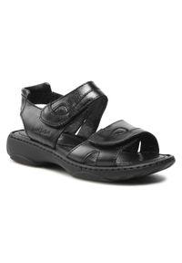 Czarne sandały Josef Seibel