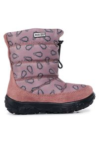 Różowe buty zimowe Naturino na spacer, z cholewką