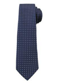 Niebieski krawat Angelo di Monti elegancki, w grochy