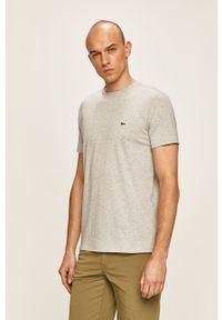 Szary t-shirt Lacoste na co dzień, casualowy