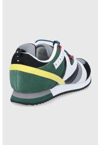 Sisley - Buty. Nosek buta: okrągły. Zapięcie: sznurówki. Materiał: guma. Obcas: na obcasie. Wysokość obcasa: niski