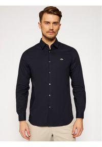 Niebieska koszula casual Lacoste