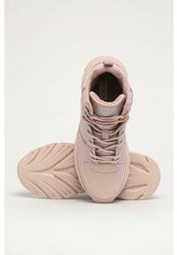 Różowe buty sportowe Big-Star na sznurówki, z okrągłym noskiem