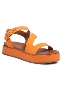 Pomarańczowe sandały Inuovo casualowe, na co dzień