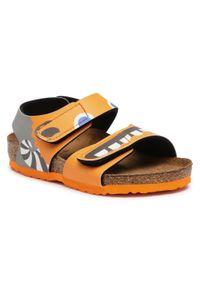 Pomarańczowe sandały Birkenstock