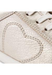 Złote buty sportowe Sergio Bardi na co dzień, z cholewką #7