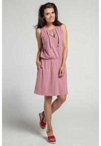 Różowa sukienka Nommo sportowa, sportowa