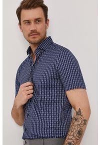 Baldessarini - Koszula. Typ kołnierza: kołnierzyk klasyczny. Kolor: niebieski. Materiał: włókno, materiał, tkanina, dzianina, bawełna. Długość rękawa: krótki rękaw. Długość: krótkie. Styl: klasyczny #5