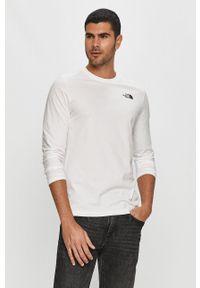 Biała koszulka z długim rękawem The North Face z nadrukiem, na co dzień