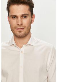 Biała koszula Premium by Jack&Jones klasyczna, gładkie