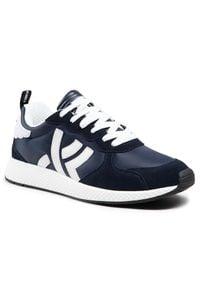 John Richmond - Sneakersy JOHN RICHMOND - 10127/CP D Blu. Kolor: niebieski. Materiał: materiał, zamsz, skóra. Szerokość cholewki: normalna