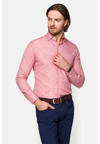 Lancerto - Koszula Czerwona w Kratę Eva. Okazja: na co dzień. Kolor: czerwony. Materiał: bawełna, tkanina, jeans. Wzór: kratka. Styl: casual