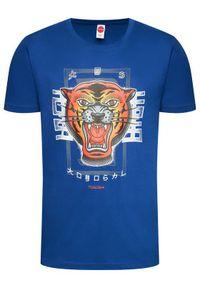 Togoshi T-Shirt Roar Niebieski Regular Fit. Kolor: niebieski