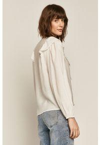 Biała bluzka medicine casualowa, z długim rękawem