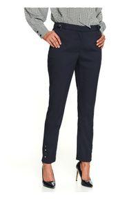 Niebieskie spodnie TOP SECRET eleganckie, w kolorowe wzory