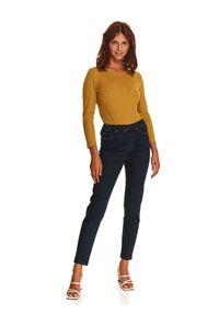 TOP SECRET - Jeansowe rurki z gumką w pasie. Okazja: do domu. Kolor: niebieski. Materiał: jeans. Długość: długie. Sezon: jesień
