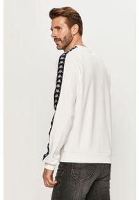 Biała bluza nierozpinana Kappa casualowa, raglanowy rękaw #5