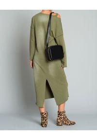 ONETEASPOON - Sukienka bawełniana. Kolor: zielony. Materiał: bawełna. Długość rękawa: długi rękaw. Typ sukienki: oversize. Styl: elegancki. Długość: maxi