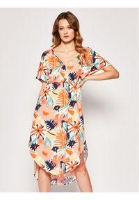 Roxy Sukienka letnia Flamingo Shades ERJWD03428 Kolorowy Regular Fit. Wzór: kolorowy. Sezon: lato