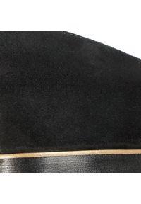 Czarne półbuty Eva Longoria na co dzień, z cholewką, z aplikacjami, casualowe