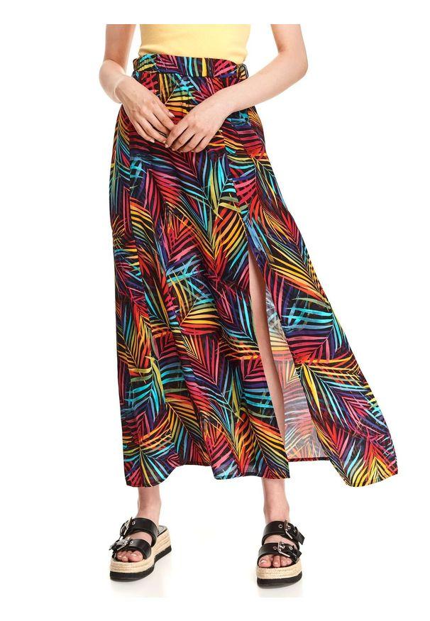 DRYWASH - Spódnica maxi w kolorowe wzory. Okazja: na co dzień. Materiał: materiał. Długość: długie. Wzór: kolorowy. Sezon: lato. Styl: wakacyjny, casual