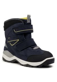 Niebieskie buty zimowe ecco