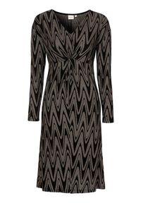 Czarna sukienka Cream z dekoltem w serek, elegancka