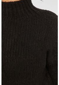 Czarny sweter Answear Lab wakacyjny, z długim rękawem