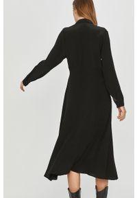 Czarna sukienka Answear Lab na co dzień, z długim rękawem, maxi, prosta