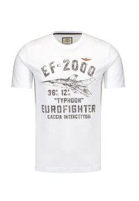 Aeronautica Militare - T-shirt AERONAUTICA MILITARE. Okazja: na co dzień. Materiał: bawełna. Długość rękawa: krótki rękaw. Długość: krótkie. Wzór: nadruk. Styl: klasyczny, casual