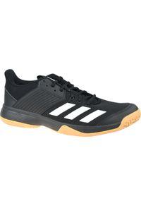 Czarne buty do koszykówki Adidas w kolorowe wzory, z cholewką