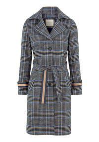 Niebieski płaszcz Freequent na co dzień, na wiosnę