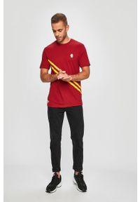 Brązowy t-shirt Vans z nadrukiem, na co dzień, casualowy