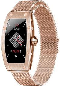 Smartwatch Kumi K18 Złoty. Rodzaj zegarka: smartwatch. Kolor: złoty