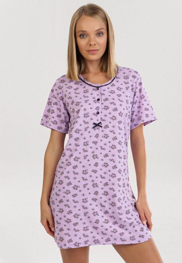 Fioletowa koszula nocna Born2be