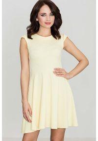 Żółta sukienka wizytowa Katrus