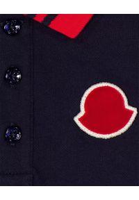 MONCLER KIDS - Granatowa koszulka z kołnierzykiem 0-3 lat. Okazja: na spacer, na co dzień. Kolor: niebieski. Materiał: bawełna. Długość rękawa: długi rękaw. Długość: długie. Sezon: lato. Styl: klasyczny, casual