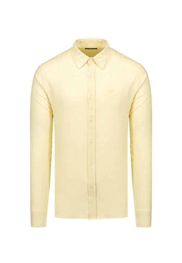 North Sails - Koszula NORTH SAILS L/S POINT COLLAR REGULAR. Kolor: żółty. Materiał: tkanina. Sezon: lato