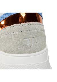 Beżowe buty sportowe Trussardi Jeans