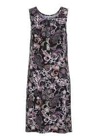 Cellbes Sukienka we wzory Czarny wzór paisley female czarny 50/52. Kolor: czarny. Materiał: jersey, wiskoza, włókno. Wzór: paisley