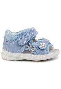 Niebieskie sandały Superfit na lato, z aplikacjami