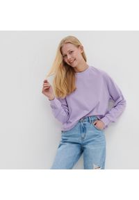 Fioletowy t-shirt House długi, z długim rękawem