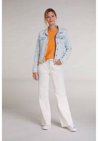 Kurtka jeansowa / katana Oui. Kolor: niebieski. Materiał: jeans