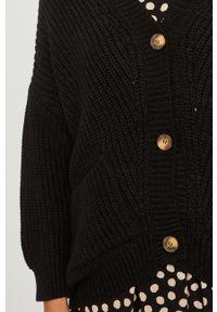 Czarny sweter rozpinany Answear Lab długi, z długim rękawem, wakacyjny #5