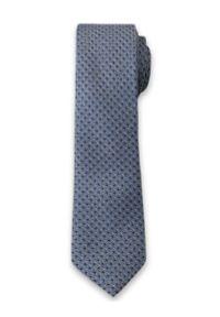 Elegancki Krawat Męski w Drobny Wzór - 6 cm - Alties, Niebiesko-Granatowy. Kolor: niebieski. Materiał: tkanina. Styl: elegancki