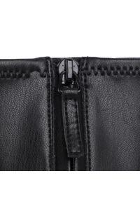 Czarne botki Calvin Klein z cholewką, na obcasie