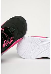 Czarne buty zimowe Puma na zimę, z cholewką, na rzepy