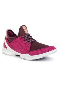 Różowe buty trekkingowe ecco na co dzień, z cholewką