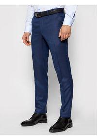 Niebieskie spodnie garniturowe Carl Gross